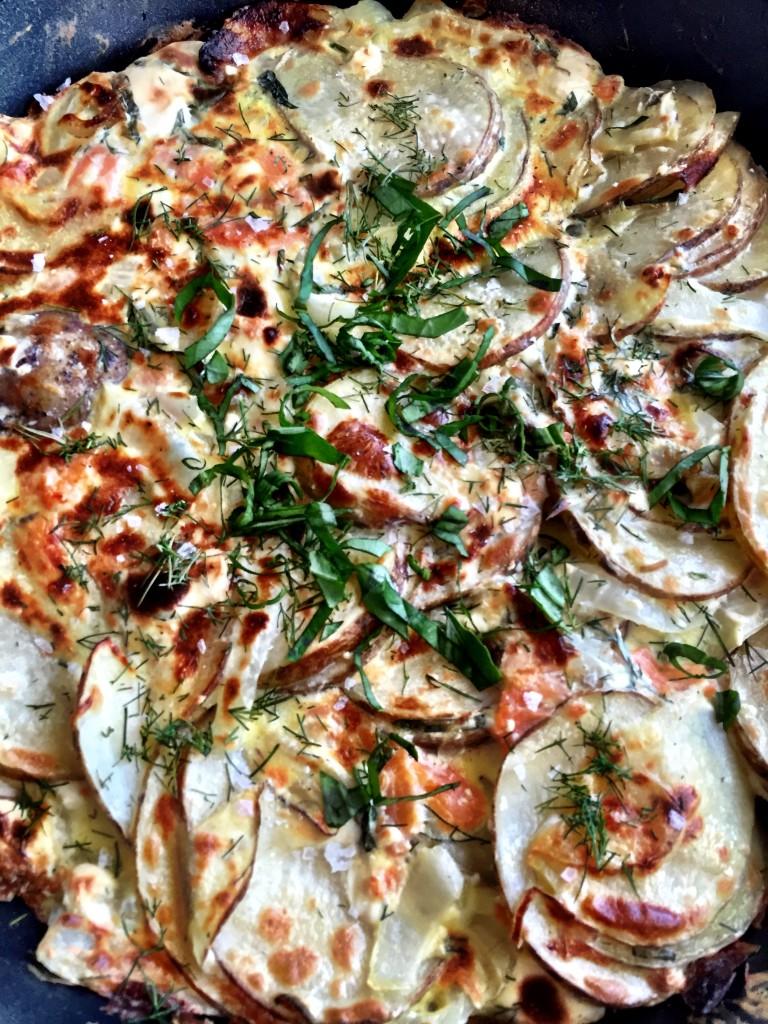 Smoked Salmon and Fresh Herb Spanish Tortilla