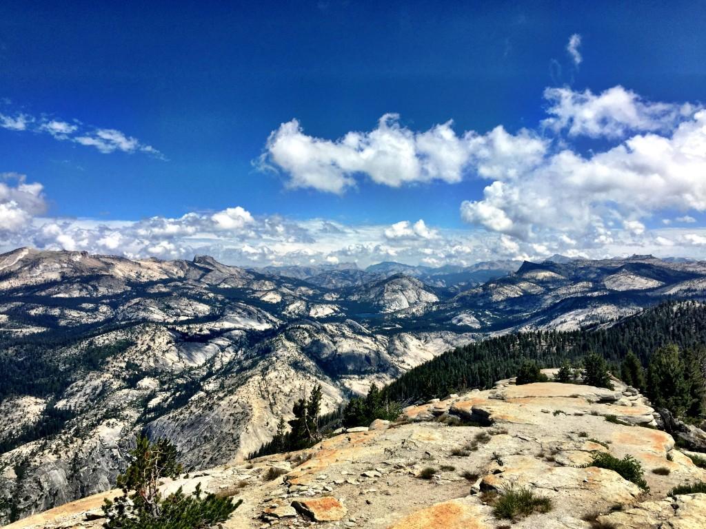 View of Tenaya Lake from Clouds Rest
