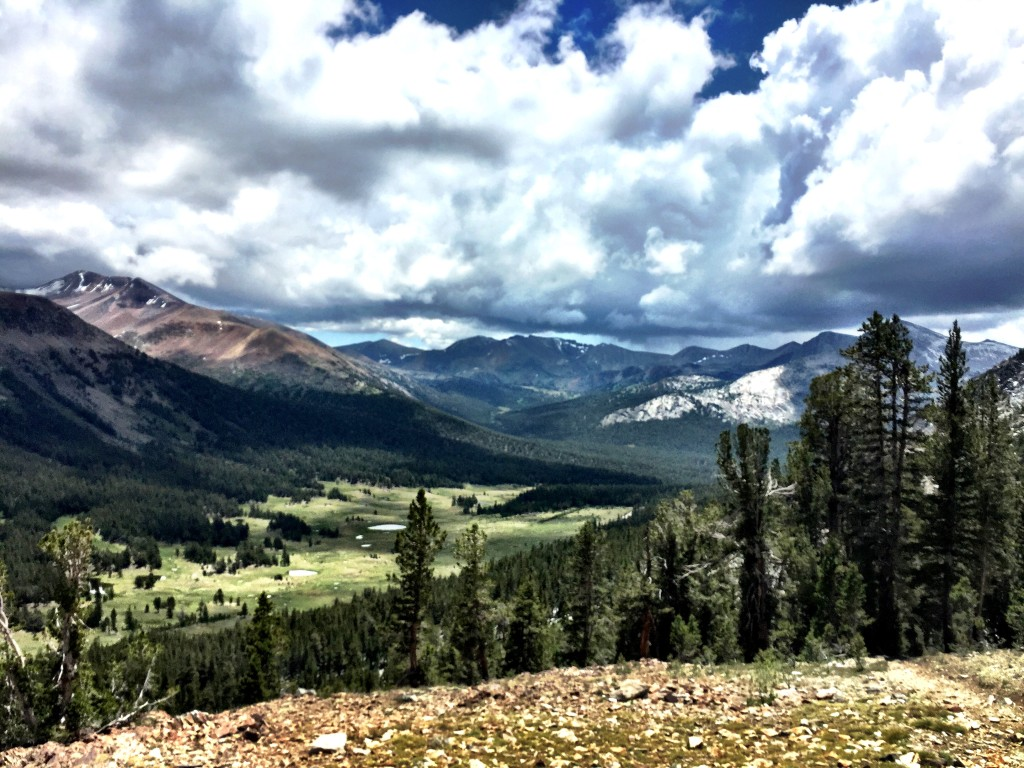 View of Tuolmne Meadows from Gaylor Lakes Trail